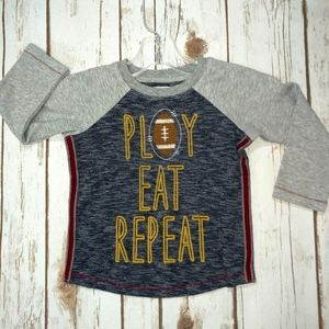 Play Eat Repeat Thanksgiving Football Shirt